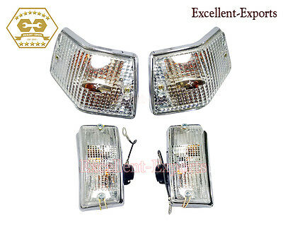 Vespa PX125 P200E LML Indicator Rear and Front Clear Lens Chrome New P1751