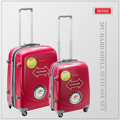 2 X 40L/65L Suitcases Luggage Trolley Travel Bag Set 4 Wheel Cabin Carry on