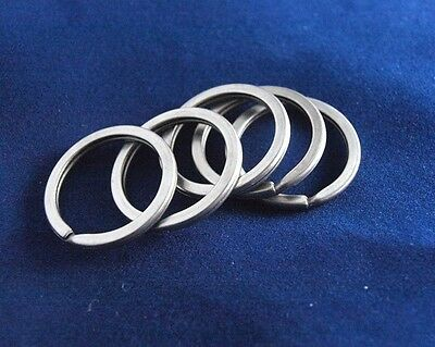 5pcs EDC Gear Titanium Ti Key Chain Key Ring Split Ring Size L 18mm 7''