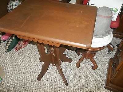 victorian ornate carved antique wooden stand furniture