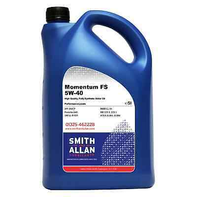 5W-40 Fully Synthetic Engine Oil ACEA A3/B4 API SN/CF 5 Litre 5L