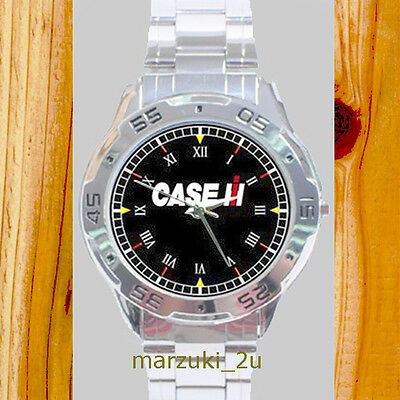 NEW RARE Case IH Tractor  CUSTOM CASUAL CHROME MEN'S WATCH WRISTWATCHES