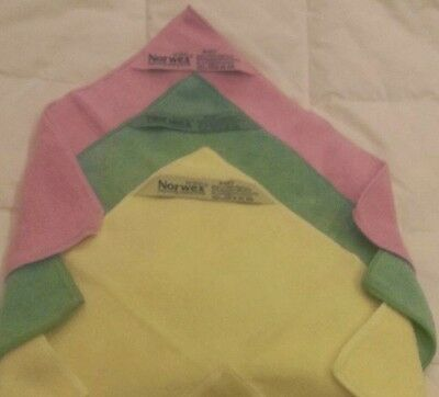 Norwex Body Cloth 3 Pack Ylw Pink Green Vibrant MicroFiber Antibacterial