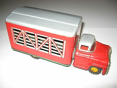 Vintage Tin Pressed Steel Friction Japanese Cattle Truck