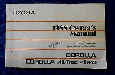 toyota corolla 4wd owners manual handbook pack service book rh picclick co uk 1991 toyota corolla repair manual pdf 1991 Toyota Corolla DX