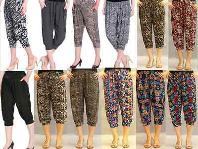 Women's Harem Yoga Pants 3/4Cropted Super Soft Comfy Casual Pants One Size8>16