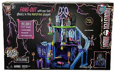 MONSTER HIGH SCHOOL CATACOMBS FREAKY FUSION DOLLHOUSE DOLL HOUSE PLAY SET