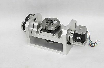 CNC Engraving Machine Rotary Table ,4th&5th Axis Rotational H Style 3-Jaw Chuck