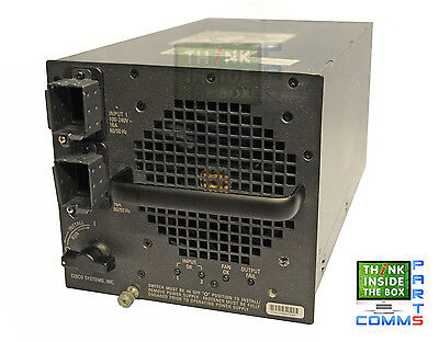 Cisco Ws-Cac-6000W Catalyst 6500 3000W Ac Power Supply *12 Month Warranty*