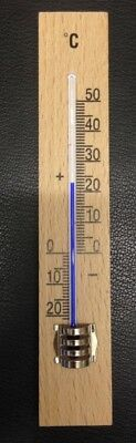 2x Zimmerthermometer Innenthermometer aus Holz Raum Thermometer Doppelpack