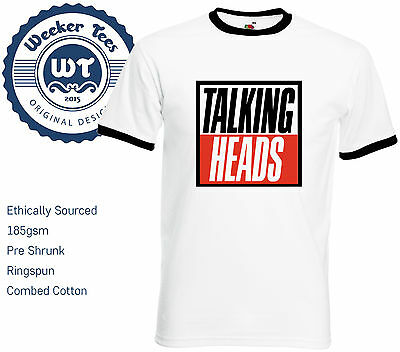 Talking Heads Cult 80s Band T-Shirt. High Quality Pre Shrunk Shirts - 2 Styles