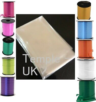 Clear Cellophane Gift Wrap 80 cm wide with Free 3 Metre Curling Ribbon