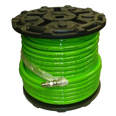 "1/2"" x 200' Sewer Jetter Hose 4,000 PSI Green (SOLxSWV) INDUSTRIAL HOSE FREE SH"