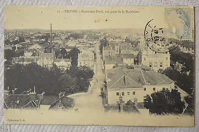 "CPA "" TROYES - Panorama Nord, vue prise de la Madeleine"