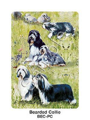 Ruth Maystead Dog Playing Cards Bearded Collie Deck Pack Poker