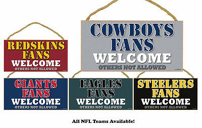 NFL  NEW Man Cave Fans Welcome! Wood Sign - CHOOSE YOUR TEAM