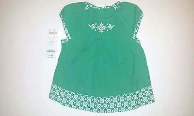NWT Gymboree The Green Scene Clover Embroidered Swing Top, Size 12-18 Months