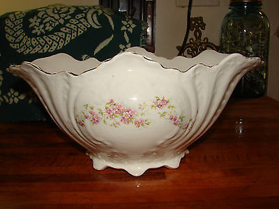 Vintage Edwin M Knowles China Floral Footed Oval Tureen