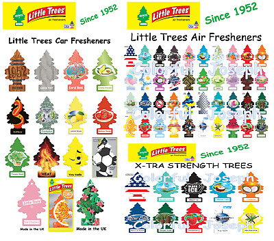 1 ~ Little TreesCar Air Freshener, over 65 Assorted Scents. FREE SHIPPING.