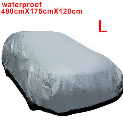 Universal Large Size L Full Car Cover UV Protection Waterproof Breathable New