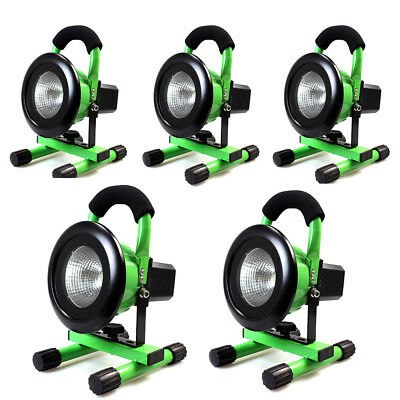 5x 10W Portable Rechargeable Flood Work Light LED lighting Caravan Camping