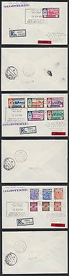 1972 Oman Express-R-FDC-Cover (3) to Germany, Definitives [ca570]