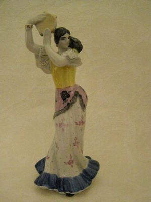 Soviet  Porcelain Figurine The  Gipsy with a tambourine (dance).Statue. USSR