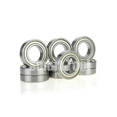 10pcs Ball Bearing 6001ZZ 12x28x8mm Metal Shielded Deep Groove 6001Z Bearings