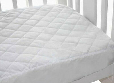 Bubba Blue Quilted Fitted Waterproof Cot Mattress Protector - LARGE