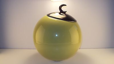 Rare Vintage Green Hull B 8 Crescent Mid Century Modern Cookie Jar with Lid