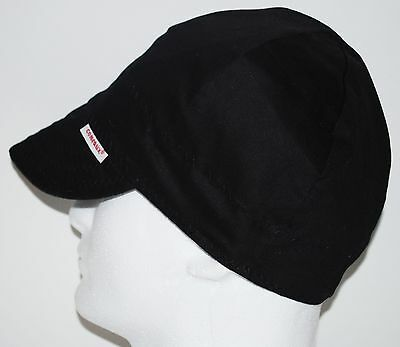 NWT Comeaux Caps Welders Welding hats solid black size 7-3/4 Reversible 2000