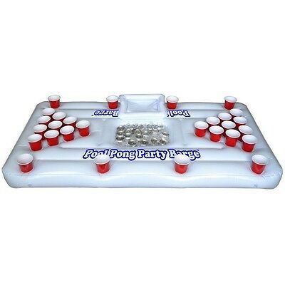 Floating Beer Pong Table Inflatable Float Raft Island Swimming Pool Party Barge