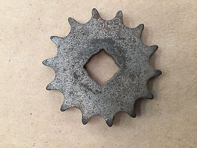 "14 Tooth Cushman Output Sprocket 9/16"" Square Hole"