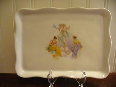 Vintage Victoria Carlsbad Austria The Three Graces Motif Rectangular Accent Tray