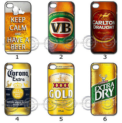 For Samsung or iPhone CASE Phone COVER Beer Bottle Mens Drinks Collection M17