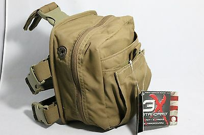 North American Rescue Combat Casualty Response Bag CCRK Medic Leg Rig Coyote NWT