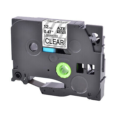 1PK TZ-131 12mm Black on Clear Label Tape TZe-131 For Brother P-Touch PT2030
