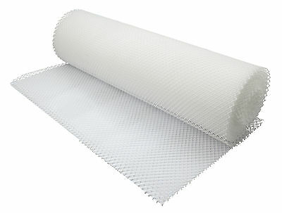 White Plastic Shelf Liner 10mtr Glass Stacking Beaumont Mat Pub Bar