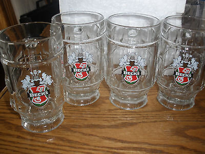 Set of 4 Beck's Beer Mugs - Germany - Heavy Quality