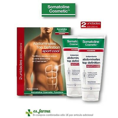Somatoline Hombre Duplo Abdominales Top Definition Sport Cool 2X200Ml
