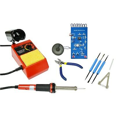 Elenco  SK-175 Deluxe Learn To Solder DIY Kit With tools