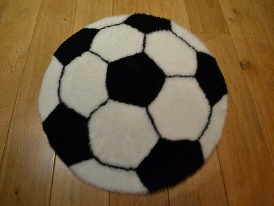 New Black & White Football Shaped Small Size Rugs Fluffy Bedroom Floor Mat Cheap