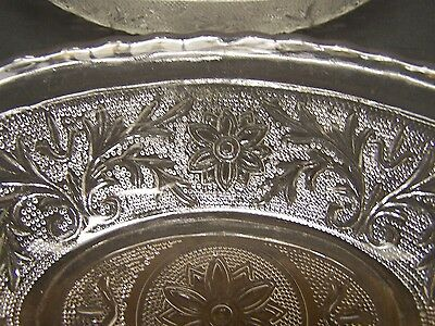 Indiana Depression PRESSED Glass SANDWICH TIARA 2 OVAL SERVING BOWLS Clear