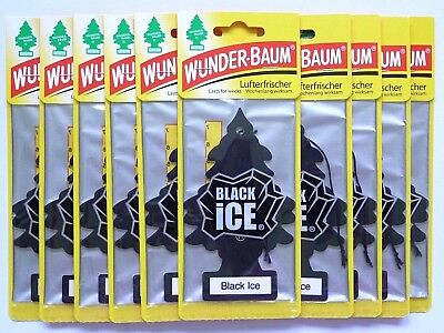 (1,08€/Einheit) 10 x WUNDER-BAUM® Black iCE Duft Auto Lufterfrischer Magic Tree