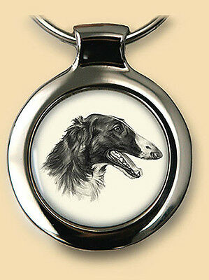 Das Portrait Dog Pendant/Key Ring NEW Borzoi/Russian Wolfhound