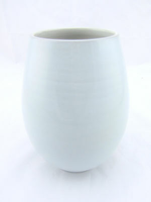 "Vintage - Studio Fris #504 7"" Light Blue Mid Century Modern Vase Made in Holland"
