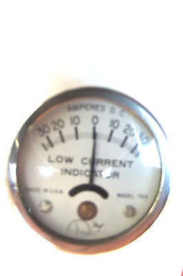 "Hoyt Induction Ammeter 30Amp,2""diameter,lay On Battery Cable,made In Usa.2.2."