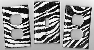 Zebra Print Light Switch Cover and Electrical Outlet Plates