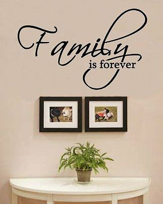 Family is forever Vinyl Wall Decals Quotes Sayings Words Art Decor Lettering Vin