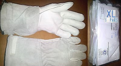 New 6 Pairs Bundle M-851 Cowhide Leather Mechanic Welding Gloves 14'' Xl 6''cuff